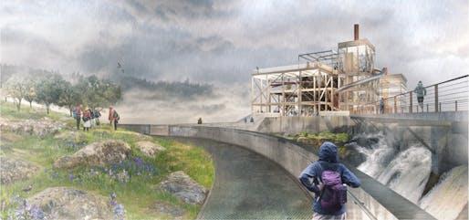The Clarifier Landscape and PGE Dam Promenade © Snøhetta