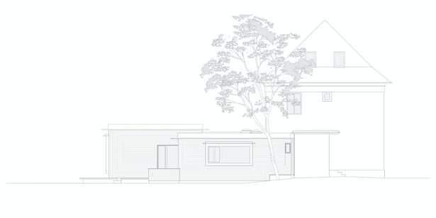 elevation south-west