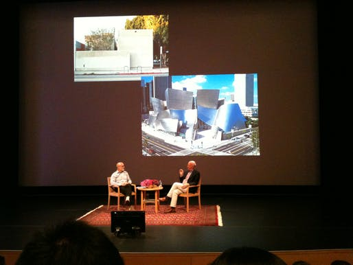 Paul Goldberger and James Cuno discuss Gehry's Danziger Studio and Walt Disney Concert Hall.