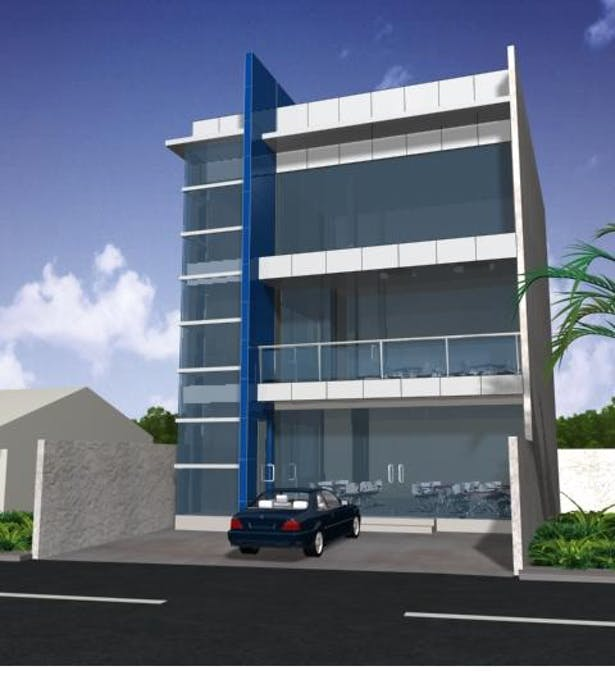 Modern 3 Storey Commercial Building Design Traffic Club