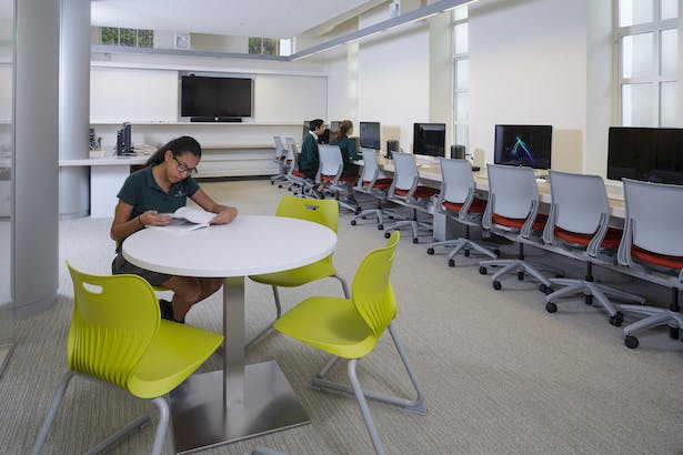 Media Space - Interior view, The Archer School for Girls