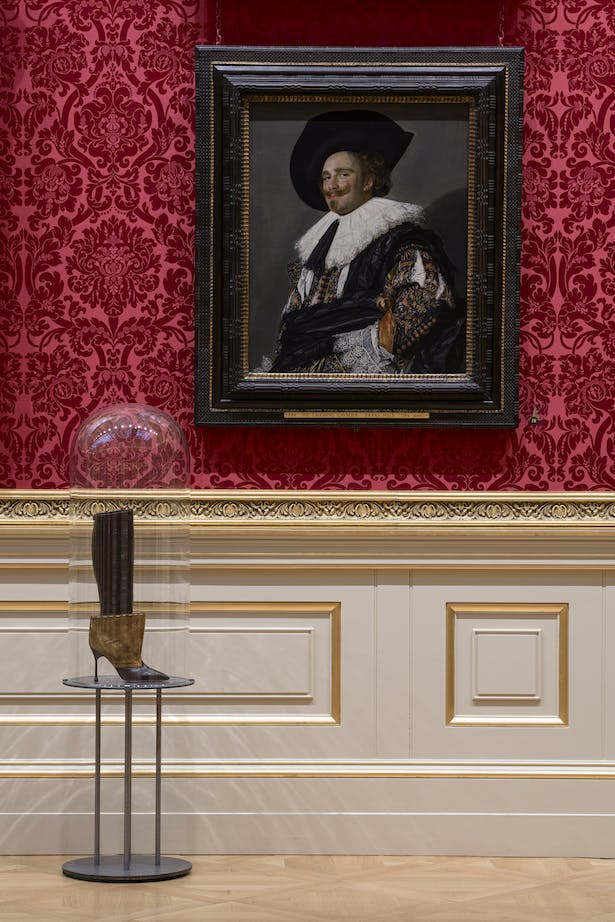 A single boot accompanies Frans Hals' The Laughing Cavalier