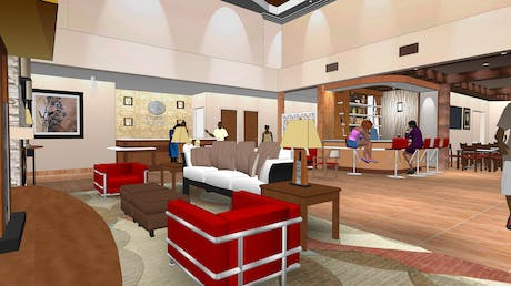 Interior Lobby for Comfort Suites at Dallas Executive Airport