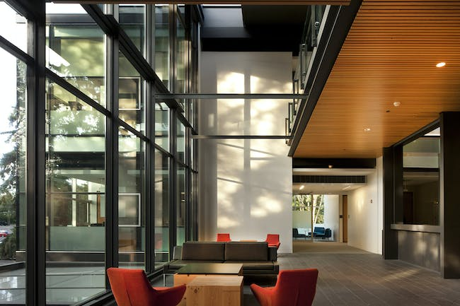 PACCAR Hall (interior), Foster School of Business, University of Washington; Seattle, WA (Photo: Nic Lehoux)