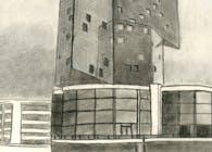 Freehand Drawing, Casino Knokke (Steven Holl)
