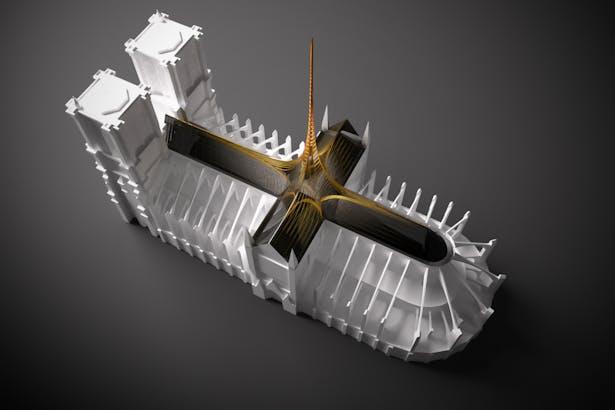 Notre Dame's Spine_OF STUDIO_Concept_Image_Aerial_2
