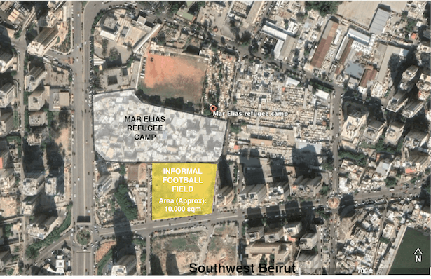 Mar Elias Palestinian Refugee Camp- Area of proposed intervention in Beirut.