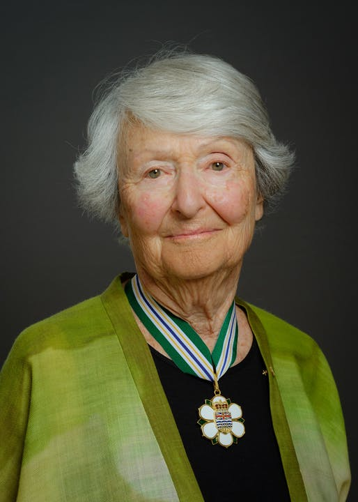 Cornelia Hahn Oberlander is the namesake for a new international landscape architecture prize. Image courtesy of Province of British Columbia.