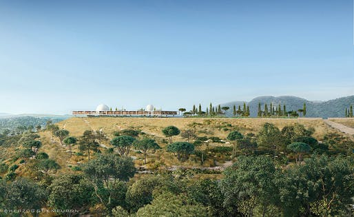 The Berggruen Institute's new Scholars' Campus in Los Angeles. Image © Herzog & de Meuron.