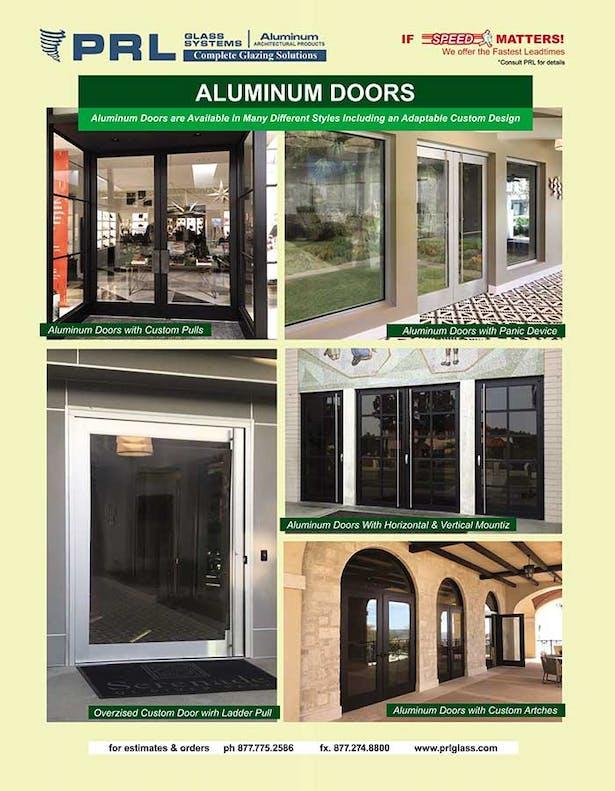 PRL's aluminum entrance doors