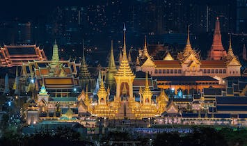 Stunning royal crematorium for late Thai monarch ready to go up in flames this week