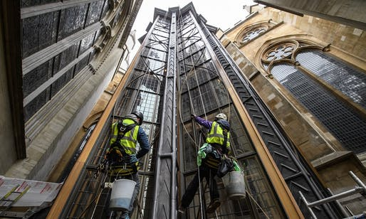Ptolemy Dean's Weston Tower, the latest addition to Westminster Abbey since 1745. Image: Leon Neal/Getty Images.