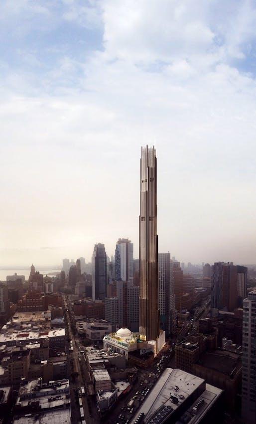 Rendering of 9 DeKalb. Image courtesy of SHoP Architects.