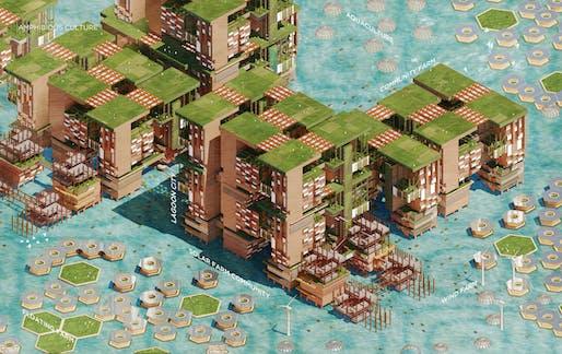 """""""2050 Lagos Amphibious City"""" by Gi Chul Choe, Joanne Li"""