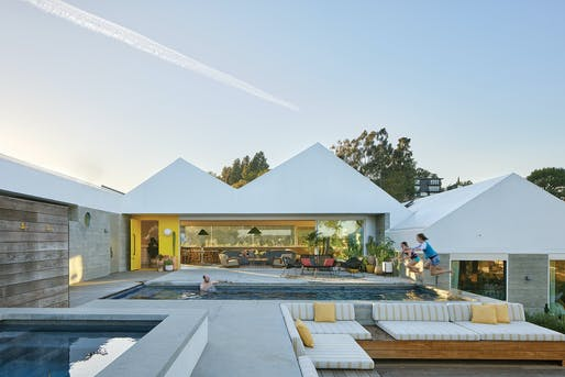 Single Family Residential - Medium (Up to 5,000 Sq. Ft.), Merit Award: House Stepping Down a Hill in Los Angeles, CA by Bestor Architecture. Photo: Bruce Damonte.