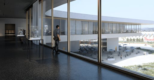 Interior rendering of the new LACMA, slated to open in 2024. Atelier Peter Zumthor & Partner / LACMA.
