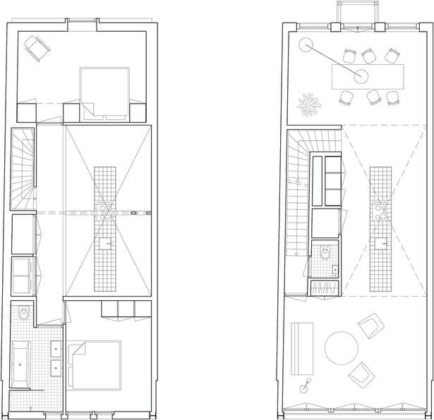 Plans upper apartment