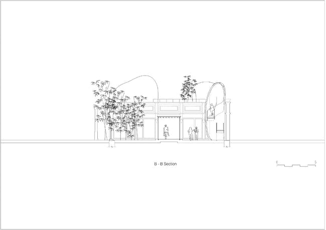 Hutong Bubble 218 - Section. Image courtesy of MAD Architects.