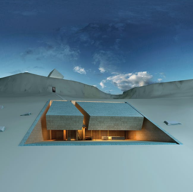 Future projects house winner: Meditation House, Lebanon by MZ Architects. Image courtesy of WAF.