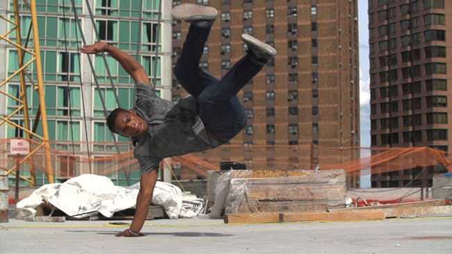 A scene from 'Skyscape', which will have its world premiere at ADFF 2013. The film features dance performances at NYC construction sites. Photo provided by Novita Communications.