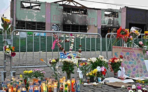 Memorial outside the Ghost Ship warehouse in Oakland. Photo via wsws.org.