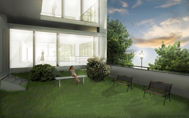 open terrace for residents