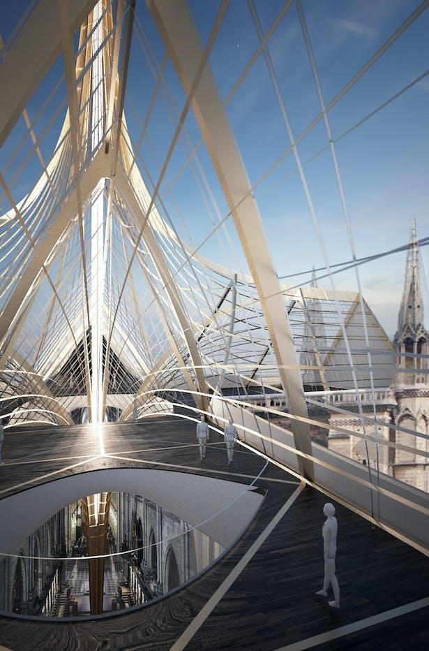 Notre Dame's Spine_OF STUDIO_Roof Interior