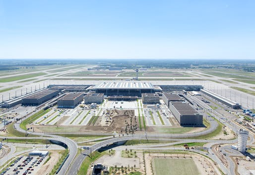 Aerial view of the ever-unfinished Berlin Brandenburg Airport, currently several billions of Euros above the original prize tag. (Photo © Alexander Obst / Marion Schmieding, Flughafen Berlin Brandenburg GmbH)