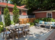 Contemporary Backyard Garden