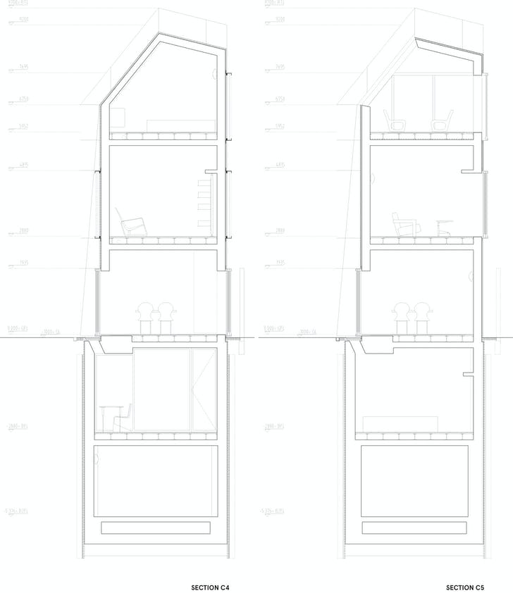 Section C4-C5, courtesy of Wiel Arets Architects (WAA)