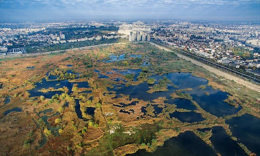 Lake Văcărești was part of former president Nicolae Ceaușescu's plan to connect Bucharest to the river Danube. Photograph: Helmut Ignat
