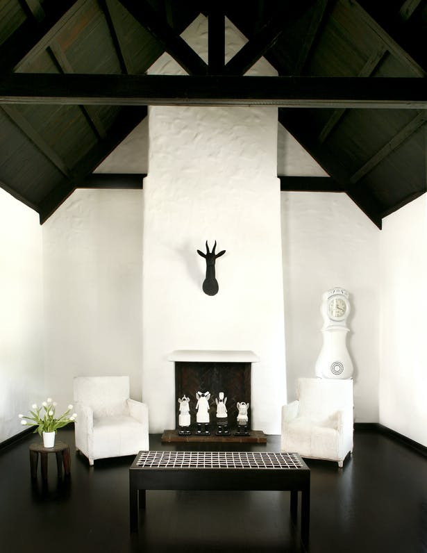 Living Room, Cape Dutch House, Photo by Ariela Grossman