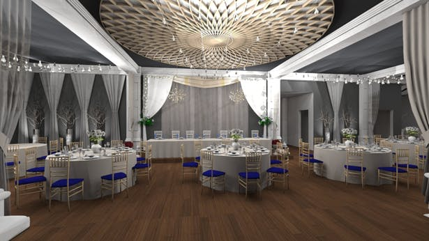 Banquet Hall - Open Dining Perspective