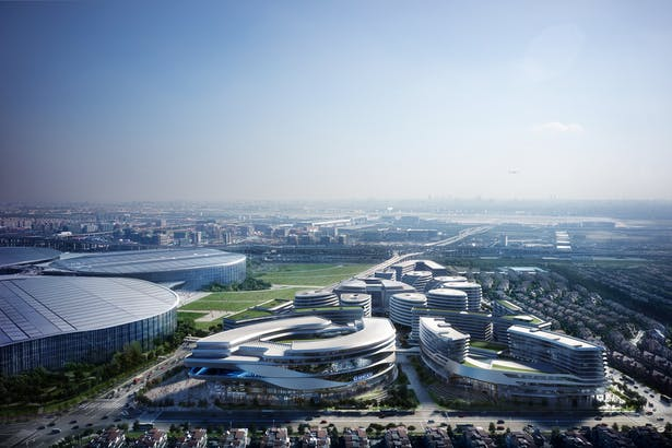 Hongqiao World Centre, Shanghai, China, by Aedas