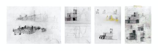 Hand-Drawn Category Shortlist: Construction as Heritage: A Case for Discrete Industry, Joshua Bristow, London Metropolitan University (Unit 8, MArch)