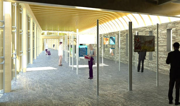 Interior of Museum Component's Learning Pavilion