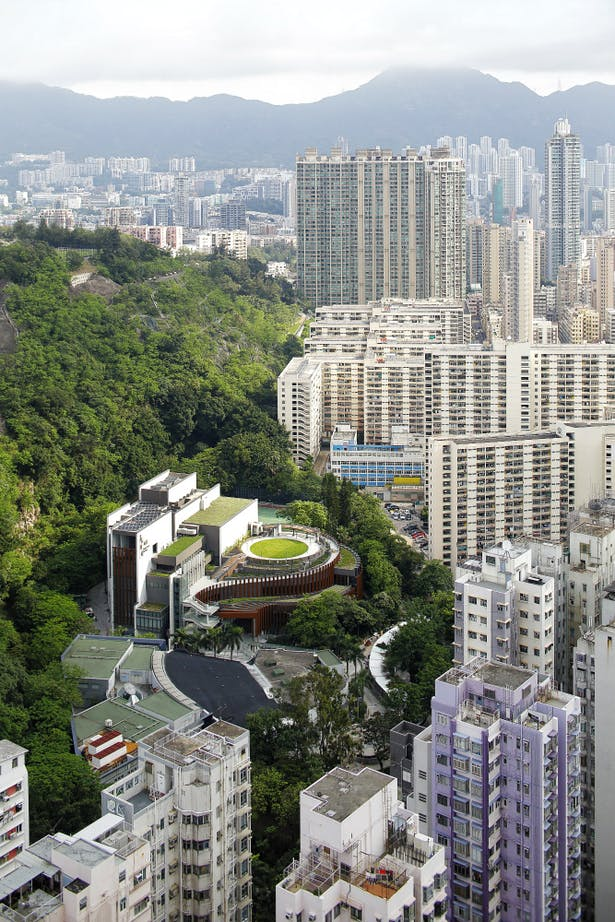 A theatre inside a park; A park insides a theatre