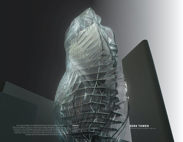 Zero Tower / Panel-less Surface Envelope System for High-rise