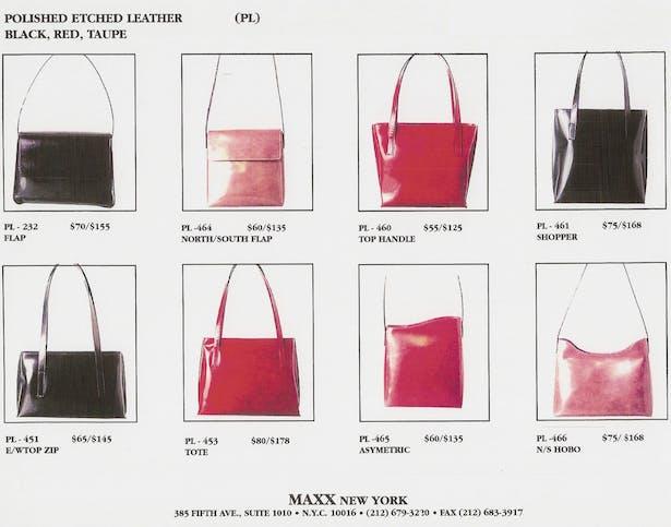 Handbag Catalog for Maxx Handbags