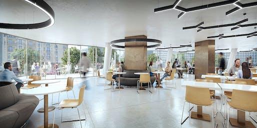 Employee Restaurant. Image © Studio Gang and Neoscape Inc.