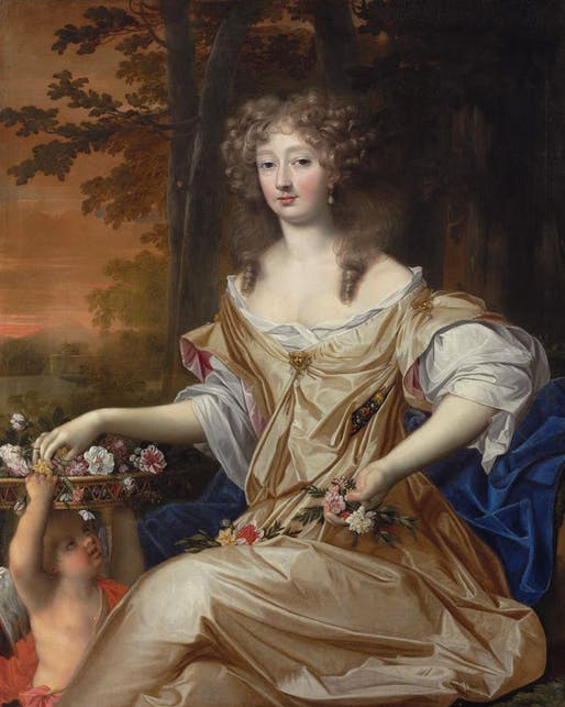 Lady Elizabeth Wilbraham was a noted architecture patron and has recently been identified as one of the first known women architects, whose work was attributed to men instead of her. Painting by John Michael Wright, via gogmsite.net