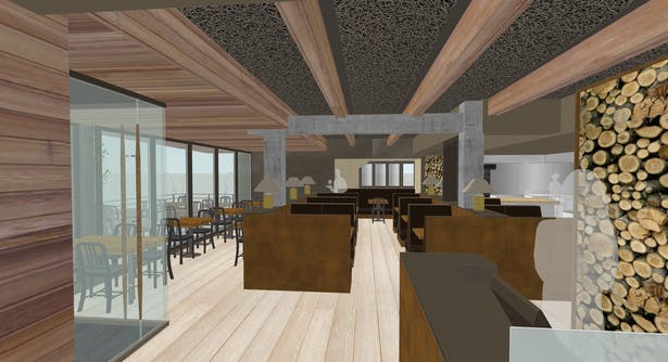 Rendering-Interior View from host stand
