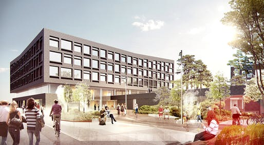 Rendering, arrival (Illustration: Henning Larsen Architects)