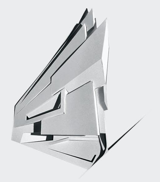 ZHA, Lois and Richard Rosenthal Center for Contemporary Art Cincinatti, Relief model, 1997-2003. Image courtesy of Zaha Hadid Architects.