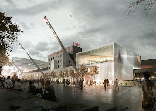Winning project Consortium by Saucier + Perrotte and GLCRM Architectes. Image: Canadian Competition Catalogue.