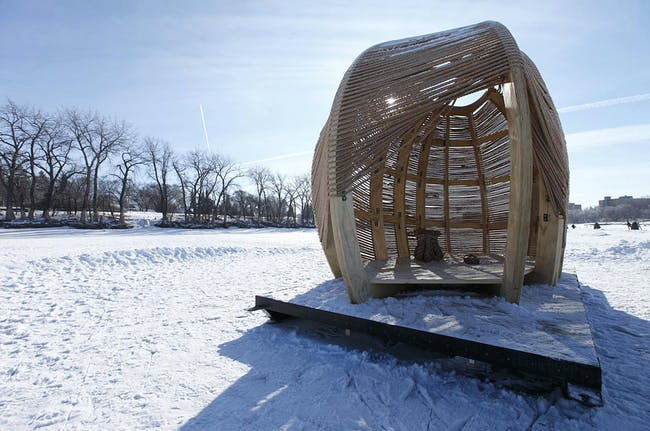 Winner in the First Work Category: Rope Pavillion by Kevin Erickson