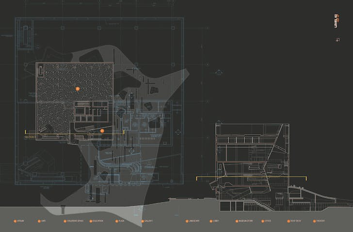 Spread from 'M': The Perot Drawings. Image: Morphosis Architects.