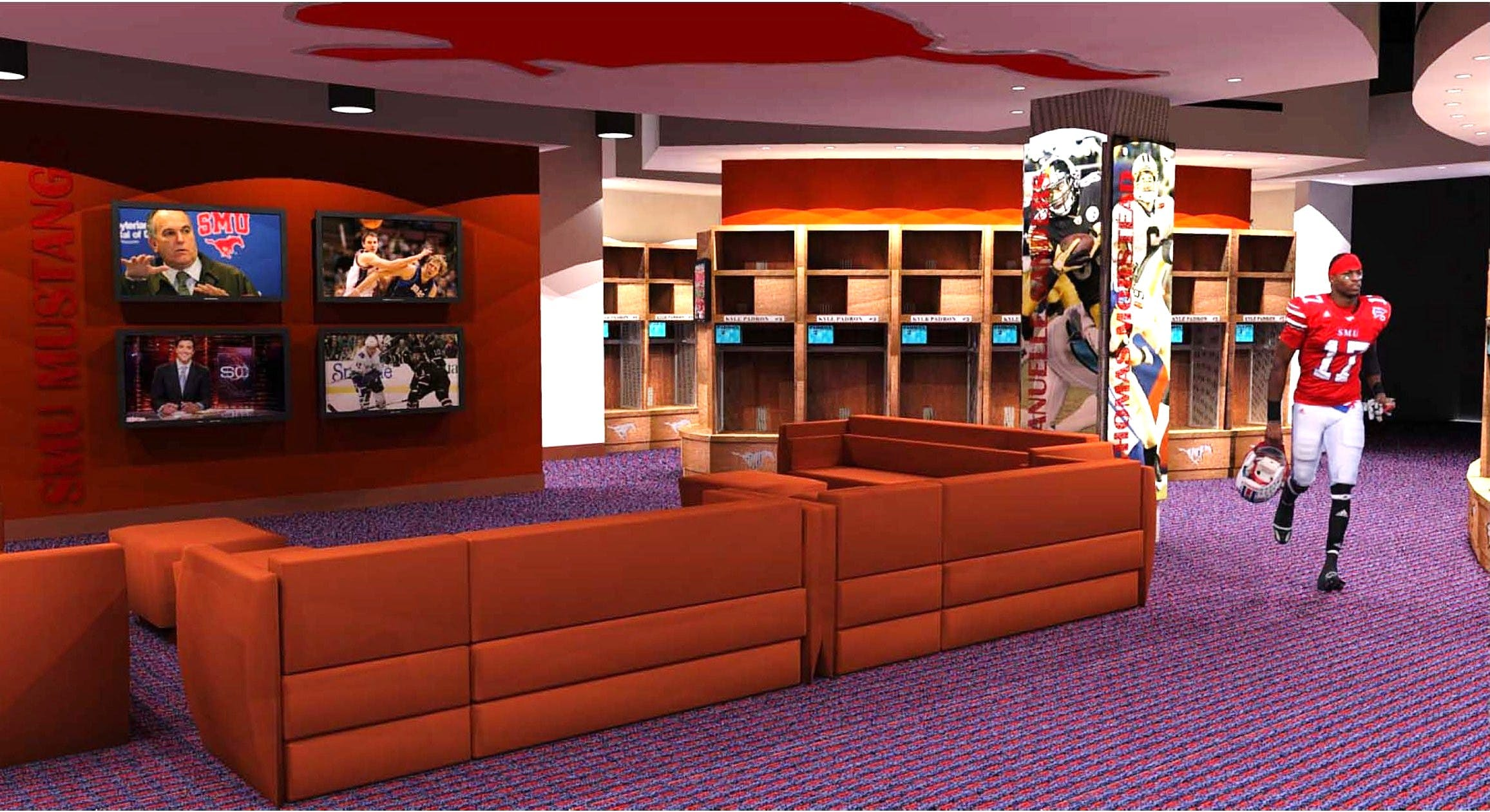 smu ford field football locker room renovation
