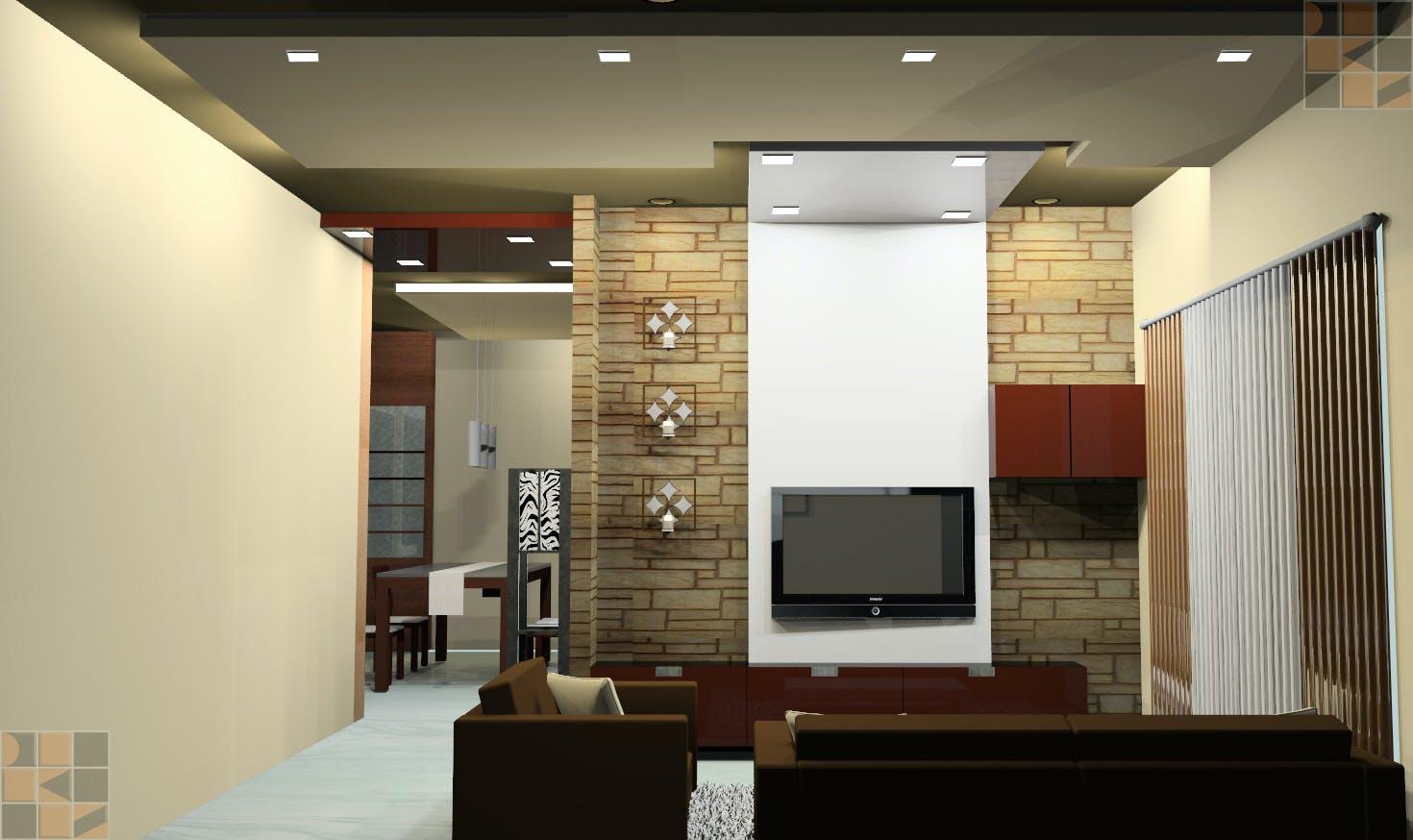 Residential interior design for mrs brindha srinivasan at vishwakarma skypark pallavaram d for Chennai interior design living room