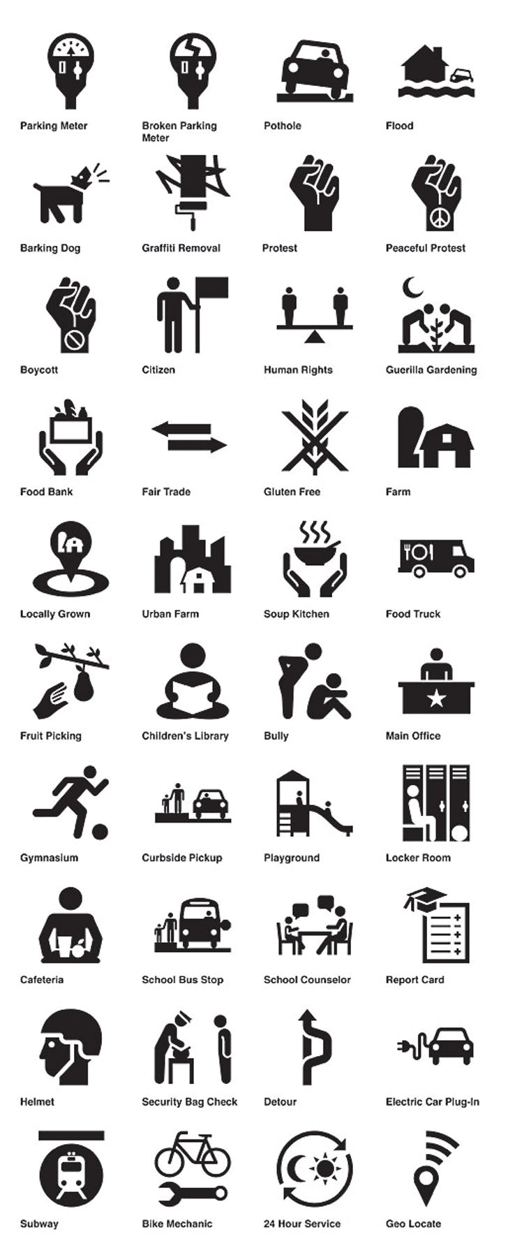 2011 Design Milestone: Civic Symbol Suite by Code for America with The Noun Project
